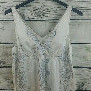 Ann Taylor Loft Deep V Neck Summer Dress